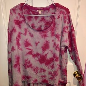 Tie dye Juicy Couture long sleeve top